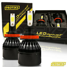 Protekz 9600LM 80W 6000K White Color LED Headlight Kit 9012 Bulbs Pair