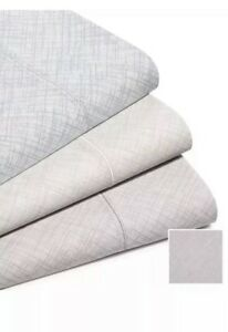 Hotel Collection 525 Thread Count Crosshatch 4 Pc King Sheet Set! Charcoal