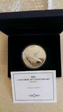 2006 cook islands concorde 30th anniversary 5oz silver coin coa box