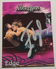 Edge Signed WWE 2003 Fleer Aggression Card #53 Pro Wrestling Superstar Autograph