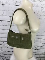 "Old Navy Mini Purse Olive Green Corduroy Zippered Pockets 9"" X 6"""