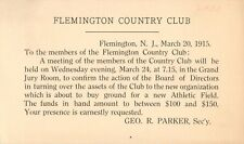 Flemington Country Club, Very Important Meeting, Flemington, New Jersey NJ 1915