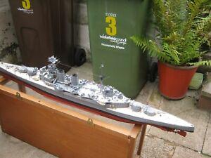 "RC Radio Controlled model hms hood warship Battle Ship Boat  54"""