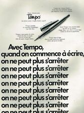 N- Publicité Advertising 1970 Le Stylo nylon Tempo