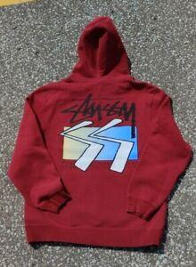 Vtg 2000s Stussy Double Sized Printed Hoodie Sweatshirt Size (M)