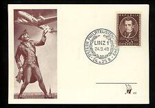 Postal History Austria Scott #560 FDC Card Music Strauss 9/24/1949 Linz