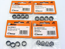 Kyosho DSlot43 DSP4016 DSP4017 DSP4019 Tire Set B C E Lot of 3 & Audi R8 Wheels