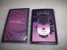 AVON~LOT OF 2 PKS (20) SAMPLE CARDS IMARI SEDUCTION & BOND GIRL FOREVER~SEALED