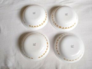 CORELLE CORNING WARE BUTTERFLY GOLD SOUP SALAD CEREAL BOWLS 6 1/4""