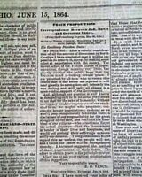 Rare PRO CONFEDERATE Columbus Ohio w/ Jefferson Davis 1861 Civil War Newspaper