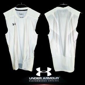 Under Armour Sleeveless Compression Shirt Women's L Spandex Stretch Mesh Back