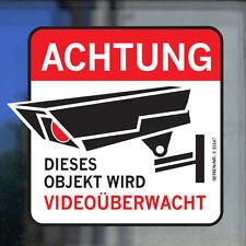 4x Videoüberwachung Hinweisschild Warnaufkleber Kamera Achtung Aufkleber Objekt