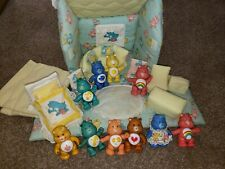 Vintage Kenner Care Bears PVC 10 Figure Lot 1980's with rare handmade House