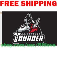 Adirondack Thunder Logo Flag ECHL Hockey League 2019 Banner 3X5 ft NEW