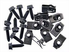Ford Flange Head Bolts & U-Nuts- M6-1.0mm Thread- 10mm Hex- Qty.10 ea.- #134