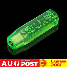 15cm Octagon Acrylic Crystal Air Bubble Manual Shift Knob Gear Shifter Green 6''