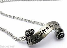 Once Upon A Time pendentif rouleau parchemin OUAT parchment roll necklace
