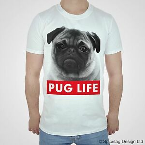 PUG LIFE Tshirt Dope T shirt Hipster Swag Dogs Mens Womens Top Fashion Puppy Tee
