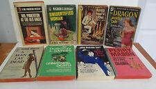 Lot of 8 Vintage PAPERBACK Murder Mystery Books: S S Van Dine, Dorothy Sayers +