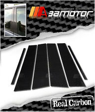CARBON FIBER DOOR PILLAR PANEL COVERS 6 PCS for MERCEDES BENZ 09-15 W212 E-CLASS