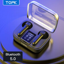 Topk TWS Wirelss Headphones Bluethooth Earbuds 5.0 Waterproof Headset In Ear New