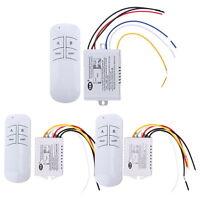1/2/3 Kanal Wireless Lichtschalter Fernbedienung Funkschalter Wandschalter 30M
