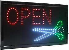 Large High Visible Led Light Business Open Sign Button Motion Control Barber