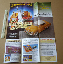 1998 Brooklin Models of Bath Poster Catalogue. US Cars + Lansdowne & Rob Eddie
