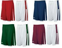 Under Armour mens Undeniable reversible Basketball Shorts  red, navy, maroon
