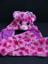 NWT Girls TY Beanie Boos GLAMOUR Hooded Scarf Hat Fleece Winter Pink Leopard