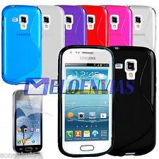 Funda TPU S-LINE + 2 PROTE para Samsung GALAXY TREND S7560 DUOS S7562 PLUS S7580
