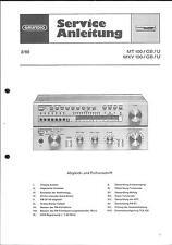 Grundig Service Manual für MT 100 U - MXV 100 U