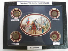 "Excavated Civil War Period Buttons In a 6"" X 8"" Display Case (NEW)"