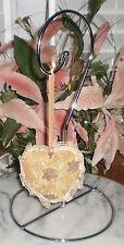 ~~ONE (1) ELEGANT VICTORIAN STYLE HEART ORNAMENT OR BLINGER~IMMED SHIP