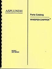 Asplundh Chipper Whisper Chipper Operating & Parts Manual-Jex