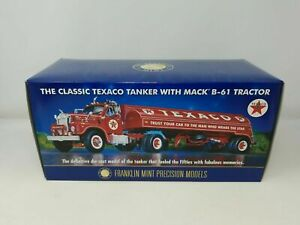 Franklin Mint Model Texaco Tanker with Mack B-61 Tractor Trailer New in Box.