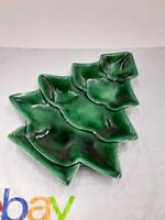 Vintage Ceramic Candy Dish Small Christmas Tree Handpainted