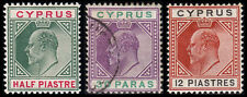 Cyprus Scott 38-39, 45 (1903) Mint/Used H VF, CV $34.25