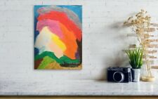WallDecor, Modern Canvas Art, Abstract Painting ,Oil pastels, Nomad