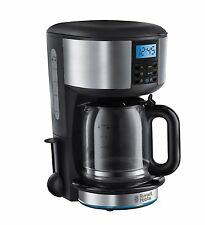 Russell Hobbs 20680 Buckingham Coffee Maker 1.25L Carafe Breakfast Timer Black