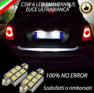 COPPIA LUCI TARGA 6 LED MINI COOPER R56 R57 CANBUS NUOVO MODELLO 100% NO ERROR
