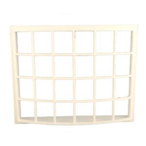 Melody Jane Dolls House White Plastic Georgian Bay Bow Window 24 Pane 1:24 Scale