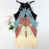 Fashion Women Vest Open Slit Cut Out Plunging Bralette Bras Crop Tops Summer