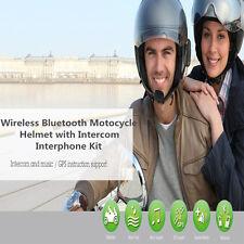 Bluetooth Full Face Motorcycle Helmet Interphone Intercom Headset Speaker Kit
