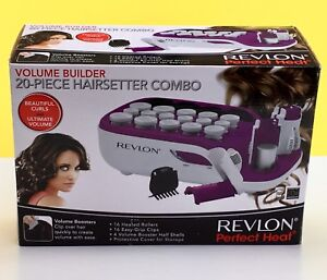 Revlon Perfect Heat Volume Builder 20 Pc Hair-setter Combo RVHS6607 New NIB