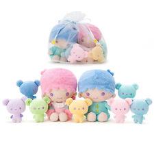 Little Twin Stars Plush Doll Set Rainbow Bear ❤ Sanrio Japan Kiki Lala