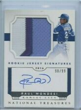 2016 National Treasures Raul Mondesi Rookie Jersey Auto 89/99 Royals KBB