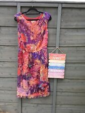 Size 10 Monsoon Pastel Colour 100% Silk Dress