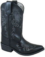 Smoky Children's Kid's  Jolene Black Leather Western Cowboy Boot