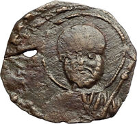 CRUSADERS of Antioch Tancred Ancient 1101AD Byzantine Time Coin St Peter i69655
